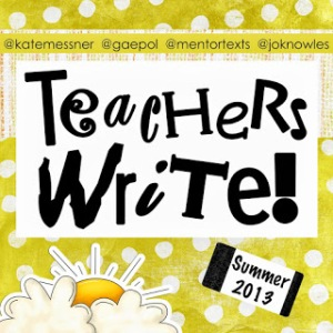 Teachers Write 2013 Button